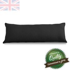 """Long Bolster Pillow With Black Case 5 Ft Maternity Pregnancy Support 21"""" x 60"""""""