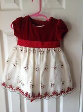 Girls holiday dress red size 18 Months