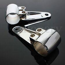 Motorrad Scheinwerfer Halterung Alu Lampen Halter 35mm/39mm/41mm mit Schrauben