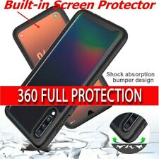 Full Body Rugged Clear Bumper Case For Samsung Galaxy Built-in Screen Protector