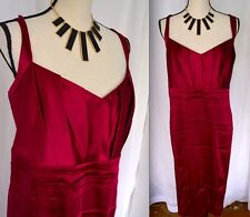 CALVIN KLEIN Satin Dress Plus Size 2X 3X BURGUNDY RED Formal HOLIDAY Cocktail z