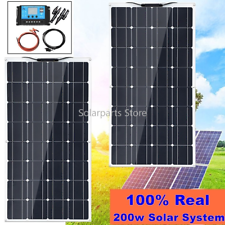 200W flexible Solar Panel Solar Kit with 20A controller for Camping Boat Caravan