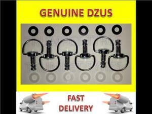 8 x Dzus Fasteners / Quarter turn 19 mm D ring anti scratch,retaining washers