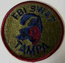 FBI Federal Bureau of Investigation SWAT Tampa Bay Bucs Original Logo Patch