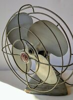 VINTAGE 1950'S GENERAL ELECTRIC GREY MID-CENTURY FAN