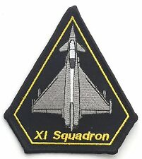 RAF 11 Squadron RAF XI Typhoon Operations Military Crested Embroidered Patch