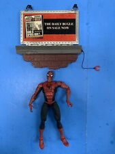 """* MARVEL LEGENDS 2003 SPIDERMAN 6"""" SUPER POSEABLE WITH DAILY BUGLE BILLBOARD *ST"""