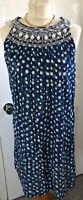 Clements Ribeiro Portobello Blue Polka Dot Spot Cotton Shift Dress Tunic M 12