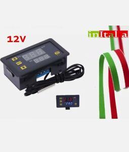 TERMOSTATO ELETTRONICO DISPLAY DIGITALE PER CONTROLLO TEMPERATURA W3230 DC 12V