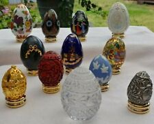 Vintage Franklin Mint Egg a Month Collection Set of 12 from the 1980's EUC