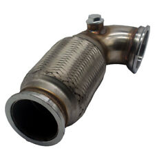 "Garrett 2.5"" V-Band to V band Downpipe Low 90 Degree w/Flex bellow+O2 bungs plug"
