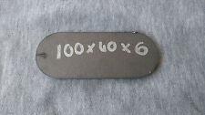 100 Mm x 40 Mm x 6 mm Ronda Disco Oval Anillos de placa de hoja de acero suave