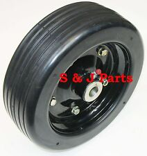 "10"" FINISH MOWER WHEEL- SOLID MOLDED TIRE - FITS 3/4"" AXLE"