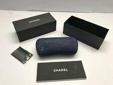 CHANEL Denim Eyeglasses Case With Microfiber Cloth