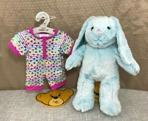 "💜 Build a Bear Blue Pawlette Bunny Rabbit 15"" w/ NEW Rainbow Sleeper & Sound 💜"