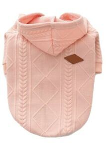 Meioro Zipped Dog Hoodie Baby Pink Jumper Size XL Frenchie/Pug