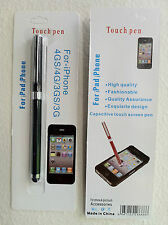 Touch Screen Stylus 2-IN-1 Pen For All Tablets and All Smartphones - Black