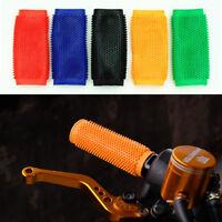 2x Motorcycle Motocross Dirt Pit Bike Anti-slip Soft Rubber Handlebar Grip  !