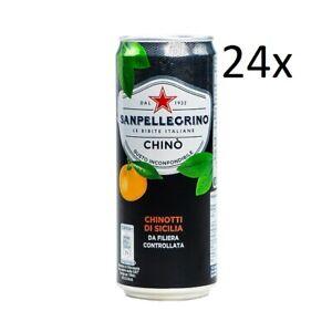 24x San Pellegrino Chinotto Italienisches Erfrischungsgetränk 33cl Einwegdosen
