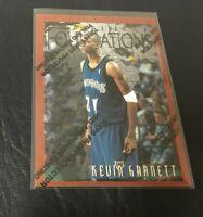 KEVIN GARNETT 1996-97 FINEST PREMIUM CARD #205 TIMBERWOLVES  2nd Year Card