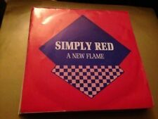 """SIMPLY RED SPANISH 7"""" SINGLE SPAIN SAME SIDED - A NEW FLAME"""