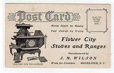 THIRD FALLS, ROCHESTER: New York postcard advertising Flower City Stoves (C24278