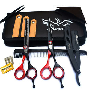 """New Professional Barber Hairdressing Hair Cutting Scissors Thinning Set 6.5"""" Kit"""