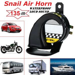12V Waterproof 130dB Snail Air Horn Siren Loud Sound Truck Motorcycle Boat Red