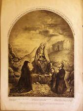 BARCELONA, Nuestra Señora de la Soledad, grabado de mediados del s.XIX