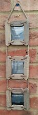 Rustic Wood Triple Photo Frame Wall Hanging fits 7cm Picture Family Photos New