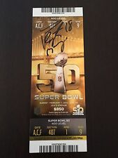 Peyton Manning - Autographed Super Bowl 50 Game Ticket