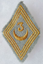 Insigne Patch tissu Losange Mle 1945 Tirailleurs Algériens 3° RTA ORIGINAL