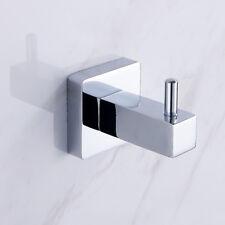 moderno accesorio de baño - CUADRADO INDIVIDUAL Toalla Percha Bata en cromo wniu