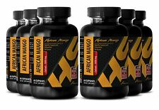 Organic superfood - PURE AFRICAN MANGO EXTRACT 1000mg 6 Bottles 360 Capsules