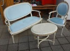 alte Sitzgarnitzr Tisch Sessel Sofa Shabby Chic Schnitzereien zur Restauration