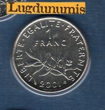 BU 2001 1 Franc Semeuse 2001 BU FDC Pièce Provenant du BU 125000 ex sous scellé