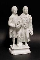 9942360 Porcelain Figurine Goethe and Schiller Glazed Wagner & Apel H23cm