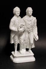 Porzellan-Figur Goethe und Schiller glasiert Wagner & Apel H23cm 9942360