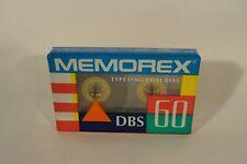 Vintage 80's Memorex Blank Cassette Tape DEADSTOCK SEALED RARE NEW