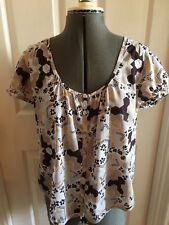 French Connection Womens Button Up Cotton Top 12