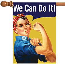 NEW Toland - We Can Do It - Women Empowerment Rosie Riveter House Flag