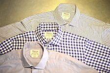 Lot of 3 T.M. Lewin Men's Slim & Reg. Fit Dress Shirts Collar 15 1/2  Sleeve 33