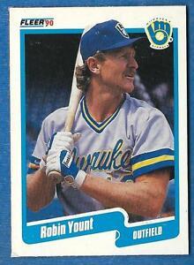 1990 Fleer Box Bottom ROBIN YOUNT (ex-) Milwaukee Brewers
