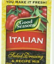 New Lot 24 Packets Good Seasons Italian Salad Dressing & Recipe Mix