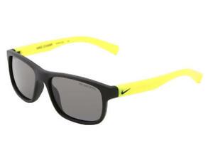 NEW KIDS NIKE EV0815 081 Black & Volt CHAMP Sunglasses with Grey Lenses 48mm