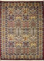 Rugstc 4x6 Pak Persian Red Area Rug, Hand-Knotted,Bakhtiari with Silk/Wool Pile