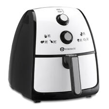PureMate 4L Air Fryer Cooker Oven Low Fat Oil Free Healthy Air Fryer 1500W White