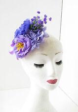 Lila Flieder Rose Pfingstrose Blume Fascinator Haarspange Rockabilly Rennen