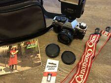 Canon AE-1 Program 35mm Film Manual Camera w/ 50mm FD 1:1.8 Lens Lot