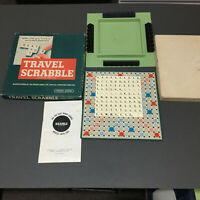1958 Vintage Perforated Travel Scrabble Set Spear's Games - Game for 2 to 4 Play